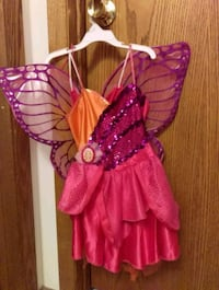 Barbie Fairy Costume, removable, bendable wings Waukesha, 53189