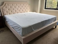 King size bed frame with headboard and mattress SILVERSPRING
