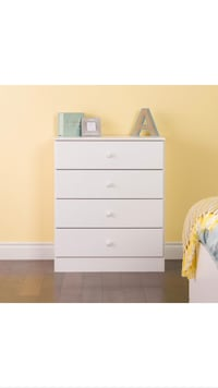 Bella 4-Drawer Dresser, White 862 mi