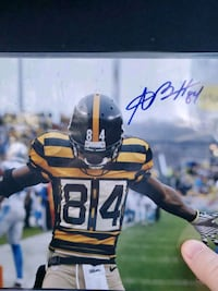 Antonio Brown autographed picture Wyoming, 19934