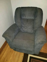 gray and brown fabric recliner sofa chair Winnipeg