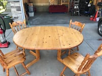 Solid wood Dining room table and chairs Calgary, T2Y