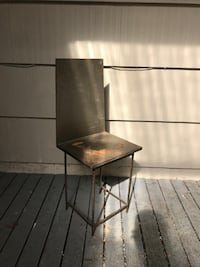 Small metal chair/plant stand  Seattle, 98195