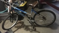 Blue and gray hardtail mountain bike Central, 70818