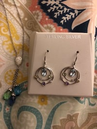 Kay jewelers Sterling silver necklace and earring set  Silver Spring, 20910