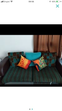 blue and black fabric sofa Simei, 528716