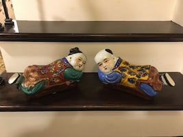 Vintage ceramic Chinese figurines