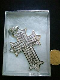 925. Solid silver cross Lancaster