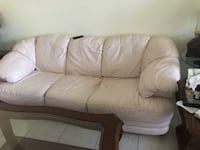 Real leather couch  Fort Lauderdale, 33308