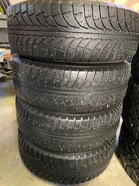 225/65R17 Studded winter tires on rims