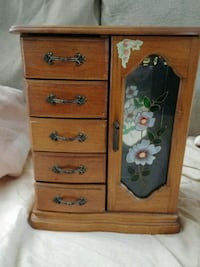 5 drawer 1 door jewelry box with necklace carousel Decatur