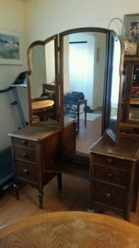 Antique Vanity w/Mirror