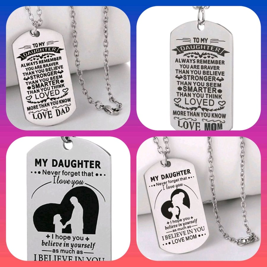 Dog Tag Necklaces. Each