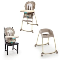 baby's gray and white high chair ELPASO