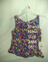 women's pink and blue floral tank top Chillicothe, 45601