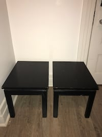 Black side tables ($25 for pair)