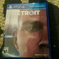 Sony PS4 The Detroit brand new used for 13 hours Poughkeepsie, 12601