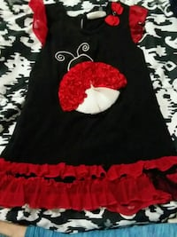 black and red floral scoop-neck sleeveless dress Bristol, 24201