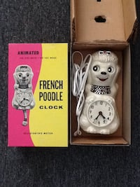 RARE French Poodle Clock