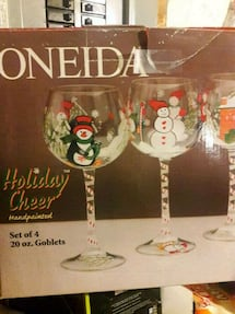 Xmas glass set