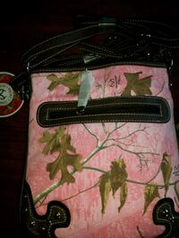 pink and white floral crossbody bag Chatham-Kent