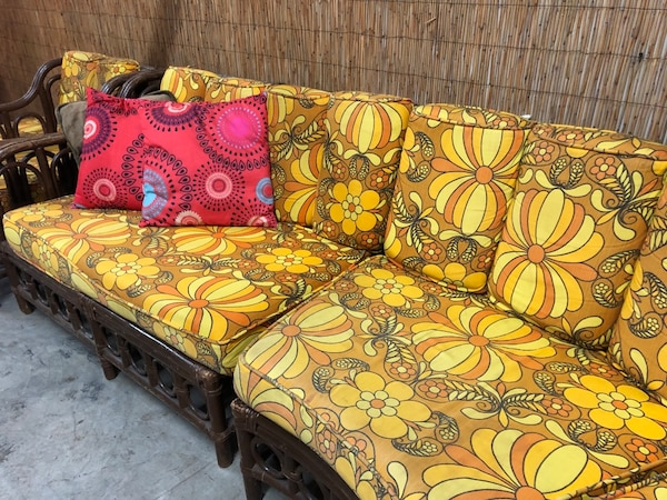 Excellent Hawaiian 70S Couch Gmtry Best Dining Table And Chair Ideas Images Gmtryco