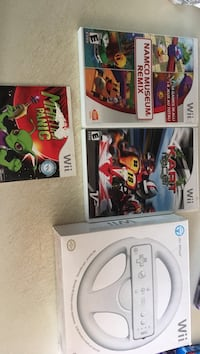 Wii games and wheel  null, R1A
