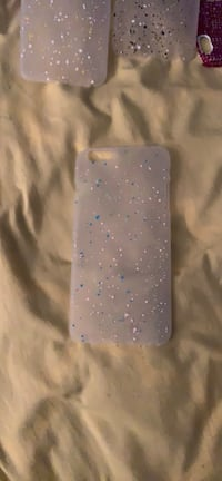 Light green, blue and light pink polka dot iPhone 6 Plus case