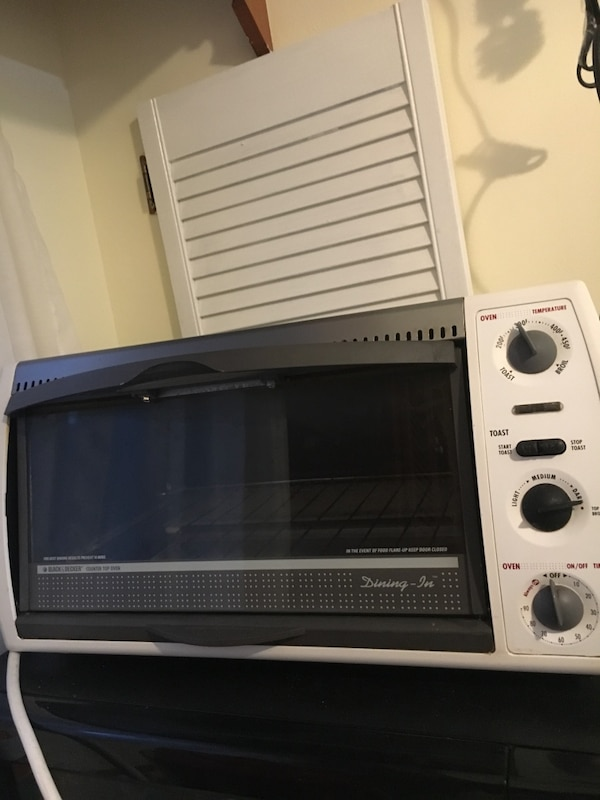 gray and black microwave oven