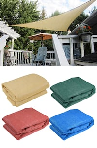 New $20 each 11.5' Triangle Sun Shade Sail Outdoor Canopy Patio Cover (4 Colors) Alhambra