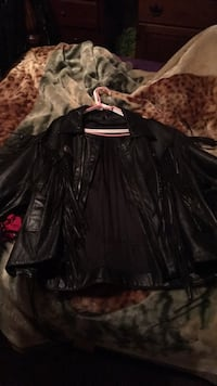 Genuine leather jacket with tassels Garland, 75042