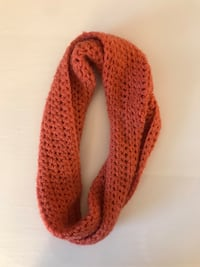 Orange scarf handmade Herndon, 20171