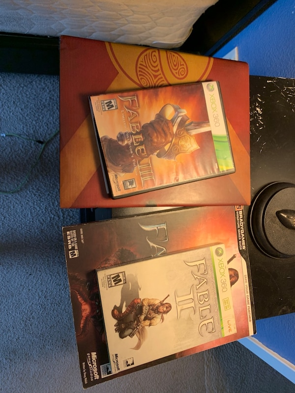 Fable II and III with gaming books  For Xbox 360 I also have fable