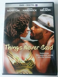 Things Never Said dvd
