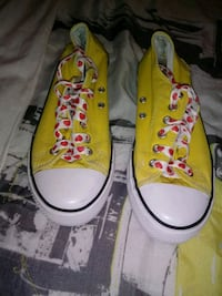 paio di sneakers basse Converse All Star gialle 7240 km