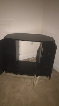 black wooden TV stand with mount Woodbridge, 22192
