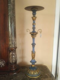 Blue and brass-colored candle holder Mississauga, L5G 3A3