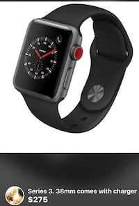 black Apple Watch with black sports band New Orleans, 70122