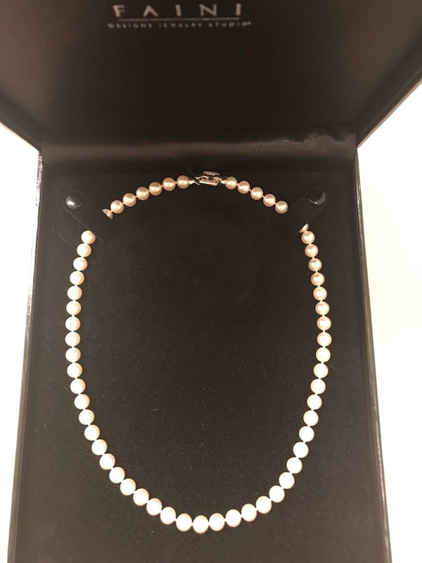 "18"" Akoya cultured pearl strand. 1"