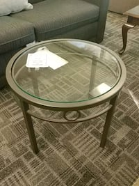 Novotel round tempered glass top table Mississauga