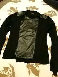 Knit/leather sweater..size small Vaughan