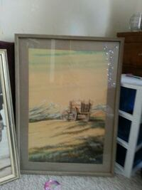 brown wooden framed painting of house Edmonton, T5P 2P1