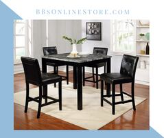 NEW - Counter Height Dining Set - Faux Marble