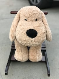 Large Plush Dog Rocking Horse
