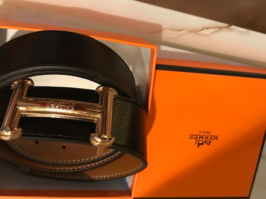 black and brown leather belt for sale  Las Vegas
