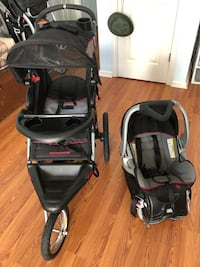Babytrend jogging stroller, car seat with base Chesapeake, 23320