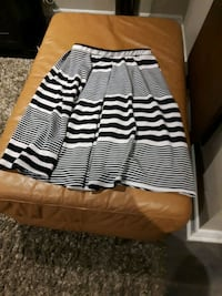 SWS Navy blue striped skirt large Toronto, M9C 4K9