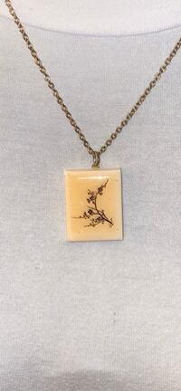 Vintage Painting Necklace