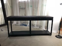 Black framed sea Grass table. About 4 and half feet long , in great shape  Calgary, T2H 0T9