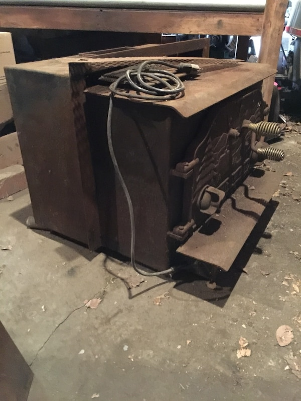 Used Antique Timber Eze Cast Iron Fireplace Insert For Sale In Brook